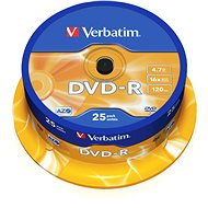 Verbatim DVD-R 16x, 25 Stk Cakebox - Media