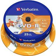 Verbatim DVD-R 16x, Printable 25ks cakebox - Media