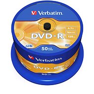 Media Verbatim DVD-R 16x, 50ks cakebox - Média