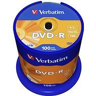 Verbatim DVD-R 16x, 100ks cakebox - Media