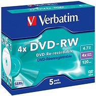 VERBATIM DVD-RW SERL 4,7 GB, 4x - Jewel Case 5 Stück - Media