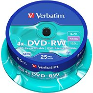 Verbatim DVD-RW 4x, 25 Stück cakebox - Media