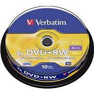 DVD+RW Verbatim 4,7 GB 4x speed, Packung mit 10 Stk in Cakebox - Media