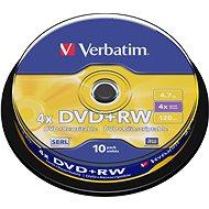 DVD+RW Verbatim 4,7 GB 4x speed, Packung mit 10 Stk in Cakebox - Media