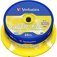 DVD+RW Verbatim 4,7 GB 4x Geschwindigkeit, 25 Stück in einer Cakebox - Media