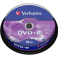Verbatim DVD+R,16x Speed. 10-er cakebox