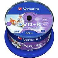 VERBATIM DVD+R AZO 4,7 GB, 16x, bedruckbar, Spindel mit 50 Stück - Media
