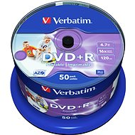 Verbatim DVD + R 16x bedruckbar 50 Stück Cakebox - Media