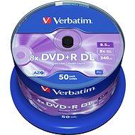 Verbatim DVD+R 8x, Dual Layer, 50 Stk in einer Cakebox - Media