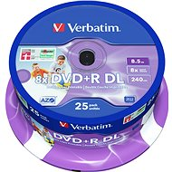 Verbatim DVD + R 8x Dual Layer Printable 25 Stk. Spindel - Media