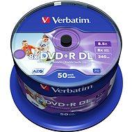 Verbatim DVD+R 8x, Dual Layer Printable 50 Stk Cakebox - Media