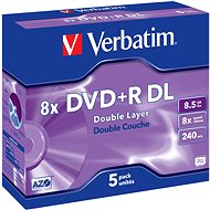 Verbatim DVD + R 8x Dual Layer 5 Stück im Karton - Media