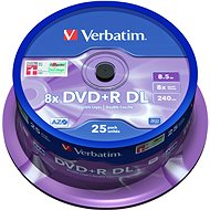 VERBATIM DVD + R 8.5GB 8x Dual-Layer MATT SILVER Spindel 25 Stck / Packung - Media
