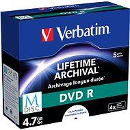 VERBATIM M-DISC DVD R 4X 4.7GB INKJET PRINTABLE - 5 Stück - Media