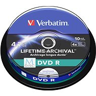 VERBATIM M-DISC DVD R 4X 4.7GB Tintenstrahl bedruckbar 10pck / BAL - Media