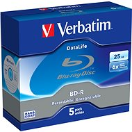 Verbatim BD-R Datalife 25GB 6x, 5ks - Media