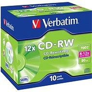 CD-RW Verbatim Rewriteable 12x Speed 80 Min. 700 MB 10 Stk im Jewel Case - Media