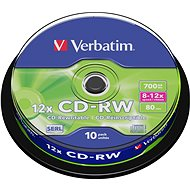 Verbatim CD-RW 10x, 10er Cakebox - Media