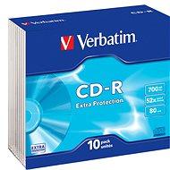 VERBATIM CD-R 700 MB, 52x, Slim Case 10 Stück - Media