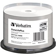 VERBATIM CD-R 80 52 x PRINT. Wide Silver Inkjet spindl 50 Stück - Media
