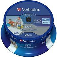 VERBATIM BD-R SL DataLife 25 GB, 6-fach, bedruckbar, Spindel 25-tlg - Media