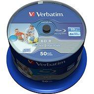 VERBATIM BD-R SL DataLife 25 GB, 6x, bedruckbar, Spindel mit 50 Stück - Media