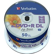 VERBATIM DVD + R DL AZO 8,5 GB, 8x, bedruckbar, Spindel mit 50 - Media
