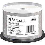 VERBATIM DataLifePlus DVD + R DL 8,5 GB, 8x, thermodruckbar, Spindel mit 50 Stück - Media