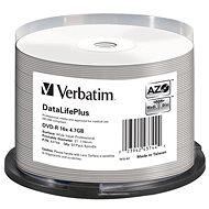 VERBATIM DVD-R DataLifePlus 4.7 GB, 16x, printable, spindle 50 Stk - Media
