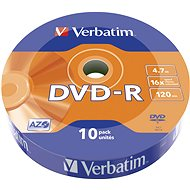 VERBATIM DVD-R AZO 4.7 GB, 16x, wrap, 10 St - Media