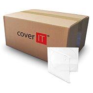 COVER IT Box: 1 CD 10 mm Jewel Box + transparentes Tray - Karton 200 Stück - CD/DVD-Hülle