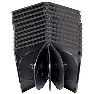 Box für 8 Stück - schwarz, 33 mm, 10 Stück - DVD-Hülle