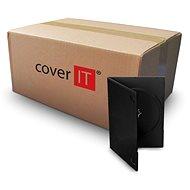 COVER IT Box: 1 DVD 9 mm Slim schwarz - 100 Stück Packung - CD/DVD-Hülle