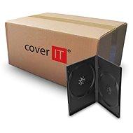 Box für 2 Stück, schwarz, 14mm - CD/DVD-Hülle
