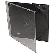 Schlanke Box für 1 Stück - schwarz, 5,2 mm, Packung mit 25 Stück - CD-Hülle