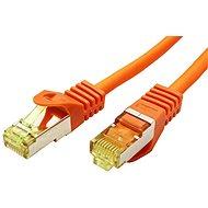 OEM S/FTP Patchkabel Cat 7, mit RJ45-Anschlüssen, LSOH, 0,25 m, orange - Netzkabel