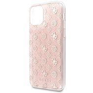 Guess 4G Peony Glitter für iPhone 11 Pro Pink (EU-Blister) - Silikonetui