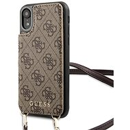Guess, 4G Crossbody Cardslot für iPhone XR Brown - Handyhülle