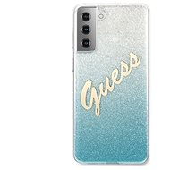 Handyhülle Guess TPU Vintage Backcover für Samsung Galaxy S21 - Gradient Light Blue - Kryt na mobil