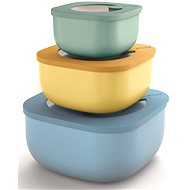 Guzzini KITCHEN ACTIVE DESIGN STORE & MORE Dosenset 3-teilig - blau, grün, gelb - Schüssel-Garnitur
