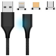 Hishell 3in1 Magnetic Charging Cable (USB-C + Lightning + Micro USB) - schwarz - Stromkabel