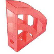 HELIT Economy 75mm transparent rot - Zeitschriftenständer