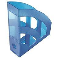 HELIT Economy 75mm transluzent blau - Zeitschriftenständer