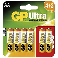 Einwegbatterie GP Ultra Alkaline LR06 (AA) 4+2 Stück im Blister - Jednorázová baterie