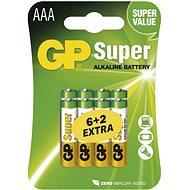 GP Super Alkaline LR03 (AAA) 6 + 2 Stück im Blister - Einwegbatterie