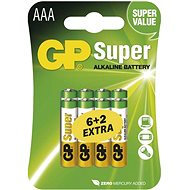 GP Super Alkaline LR03 (AAA) 6 + 2 Stück im Blister - Akkus