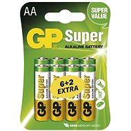 GP Super-Alkaline LR6 (AA) 6 + 2 Stück in Blisterverpackung - Akku