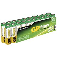 GP Super-LR6 (1,5V), 20 Stück im Blister - Einwegbatterie