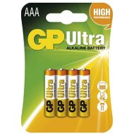 GP Ultra Alkaline LR03 (AAA) 4 Stück in Blister - Einwegbatterie