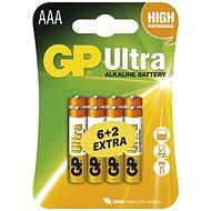 GP Ultra Alkaline Batterien LR03 (AAA) 6 +2 Stück im Blister - Einwegbatterie